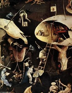 Hieronymus Bosch - Triptych of Garden of Earthly Delights (detail) (18)