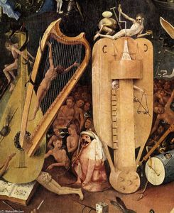Hieronymus Bosch - Triptych of Garden of Earthly Delights (detail) (20)