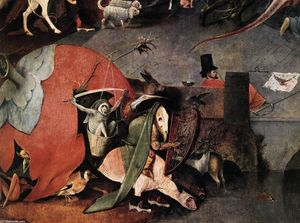 Hieronymus Bosch - Triptych of Temptation of St Anthony (detail)