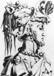Order Museum Quality Copies | Masked Head by René Boyvin (1525-1598, France) | WahooArt.com