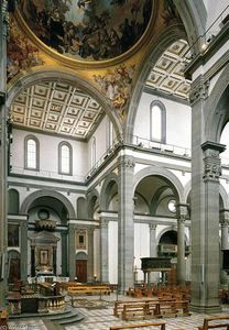 Filippo Brunelleschi - View of the central nave