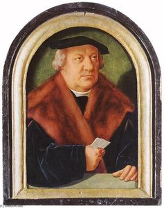 Barthel Bruyn The Elder - Portrait of Scholar Petrus von Clapis