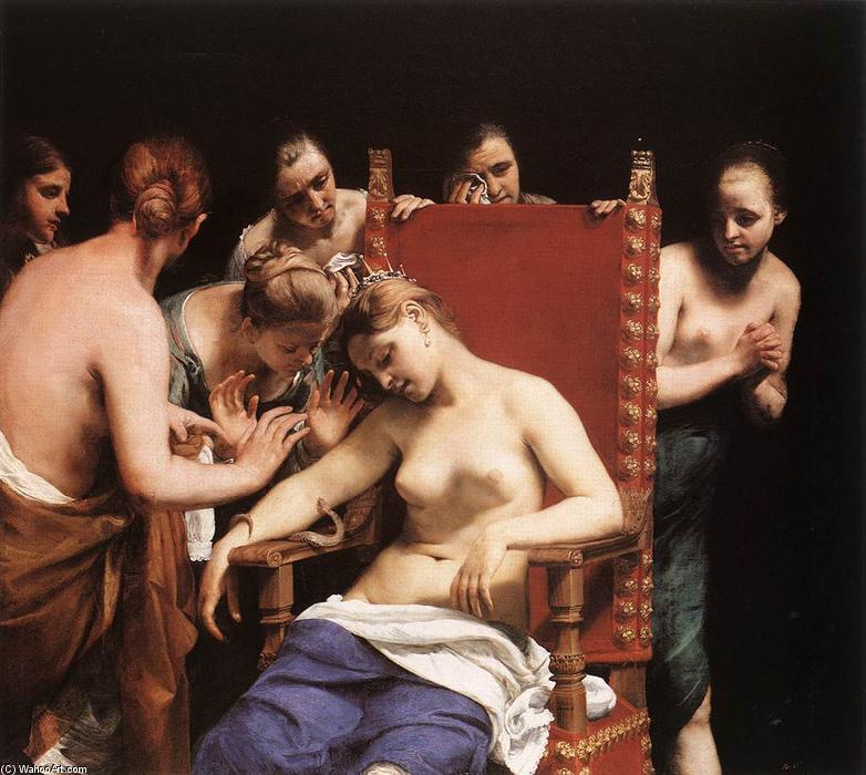 The Death of Cleopatra, 1658 by Guido Cagnacci (1601-1663, Italy) | Art Reproductions Guido Cagnacci | WahooArt.com