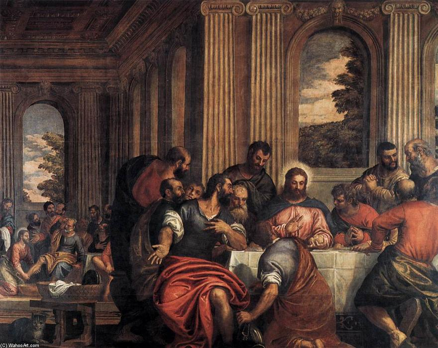 Last Supper by Benedetto Caliari (1538-1598, Italy) | Art Reproductions Benedetto Caliari | WahooArt.com