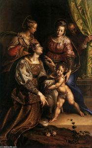 Antonio Campi - Virgin and Child with Saints