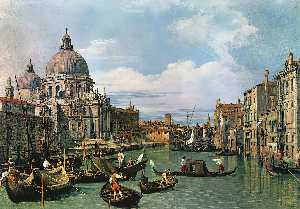 Giovanni Antonio Canal (Canaletto) - The Grand Canal and the Church of the Salute