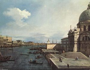 Giovanni Antonio Canal (Canaletto) - The Grand Canal at the Salute Church