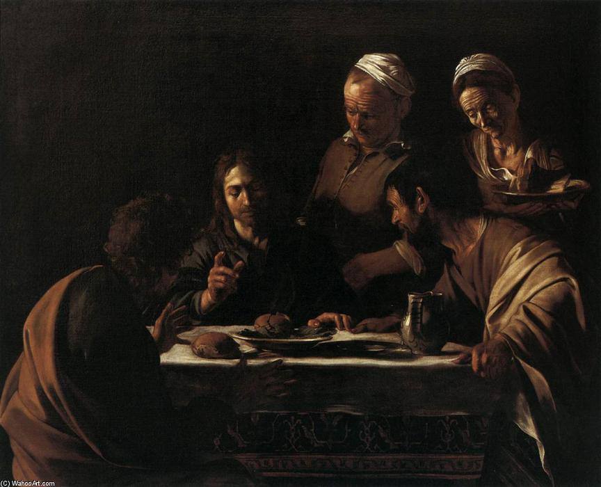 Supper at Emmaus, Oil On Canvas by Caravaggio (Michelangelo Merisi) (1571-1610, Italy)