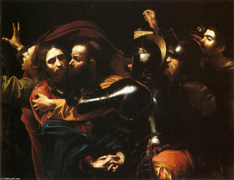 Taking of Christ, Oil On Canvas by Caravaggio (Michelangelo Merisi) (1571-1610, Italy)