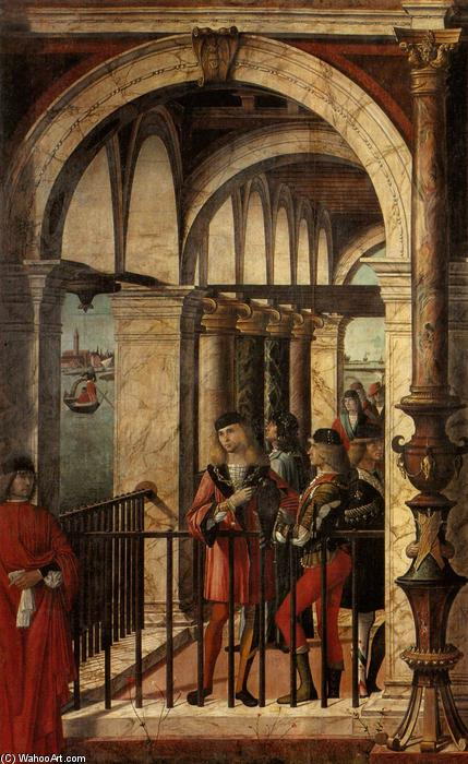 Arrival of the English Ambassadors (detail), Tempera by Vittore Carpaccio (1465-1526, Italy)