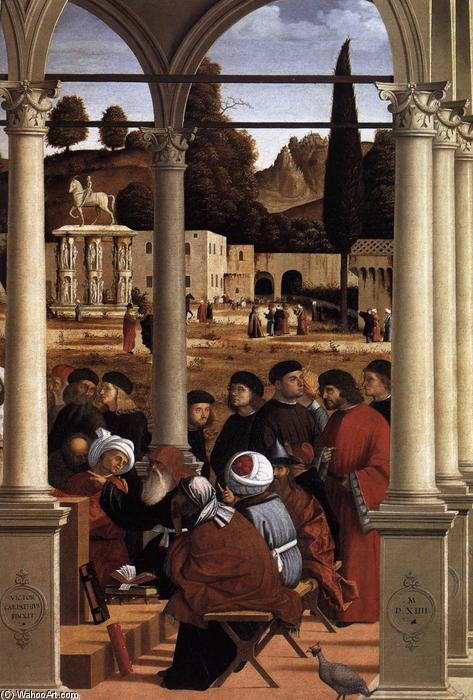 Disputation of St Stephen (detail), Tempera by Vittore Carpaccio (1465-1526, Italy)