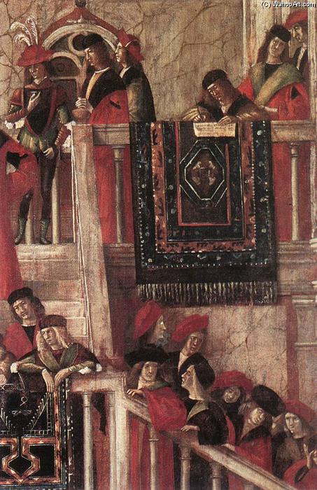 Meeting of the Betrothed Couple (detail), 1495 by Vittore Carpaccio (1465-1526, Italy) | WahooArt.com