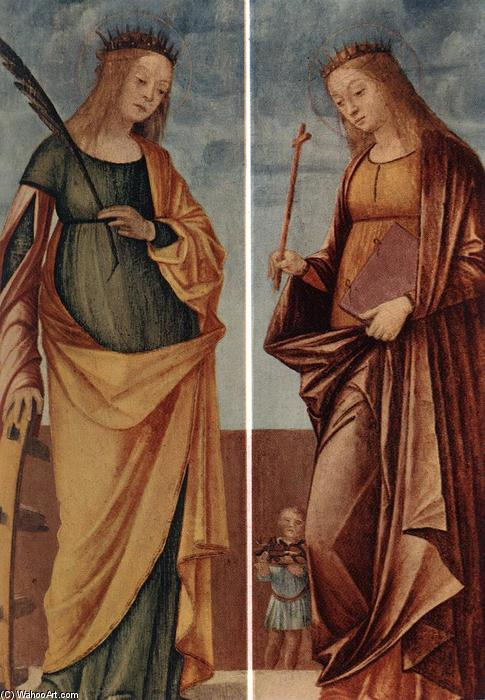 St Catherine of Alexandria and St Veneranda, Tempera by Vittore Carpaccio (1465-1526, Italy)