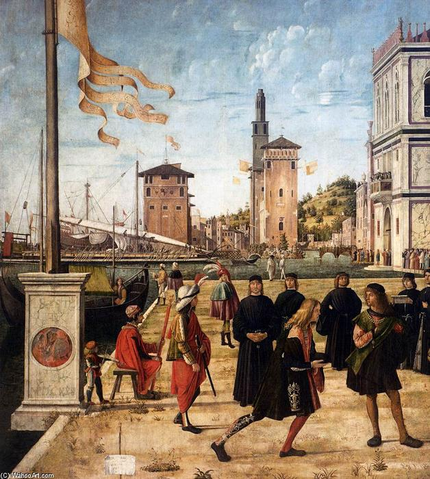 The Ambassadors Return to the English Court (detail), 1495 by Vittore Carpaccio (1465-1526, Italy) | WahooArt.com