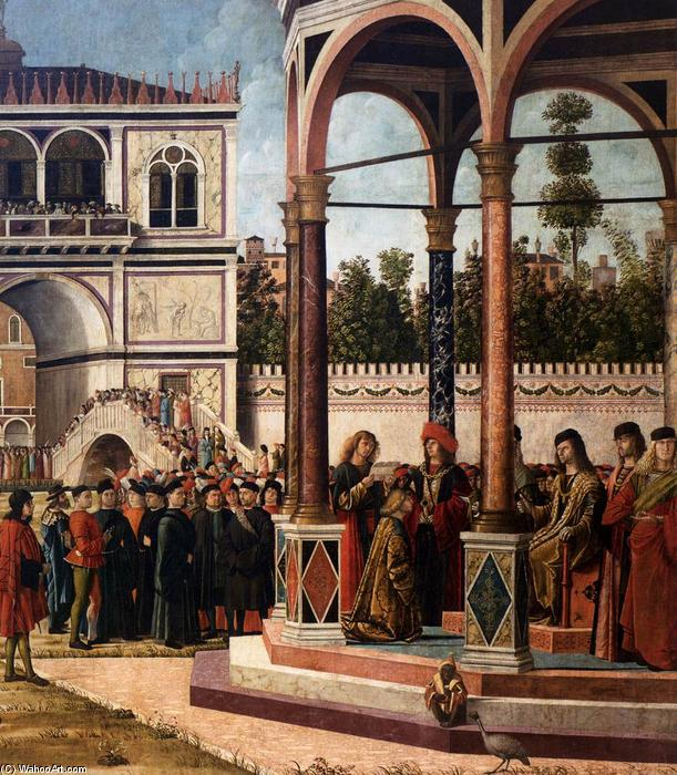 The Ambassadors Return to the English Court (detail), 1495 by Vittore Carpaccio (1465-1526, Italy) | Art Reproduction | WahooArt.com