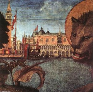 Vittore Carpaccio - The Lion of St Mark (detail)