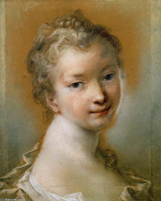 Portrait of a Young Girl, Pastel by Rosalba Carriera (1675-1757, Italy)