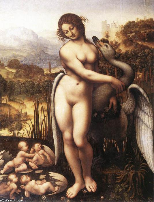 Leda and the Swan, 1505 by Cesare Da Sesto (1477-1523, Italy) | Painting Copy | WahooArt.com