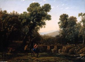 Claude Lorrain (Claude Gellée) - The Flight into Egypt