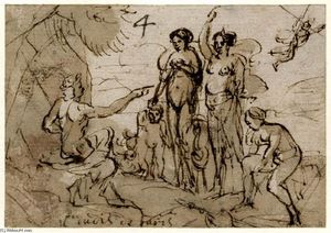 Claude Lorrain (Claude Gellée) - The Judgment of Paris