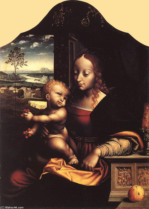 Virgin and Child, 1535 by Joos Van Cleve (1485-1540, Germany) | Museum Quality Reproductions | WahooArt.com