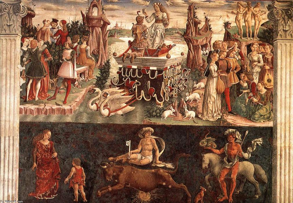 Allegory of April: Triumph of Venus, 1476 by Francesco Del Cossa (1436-1477, Italy) | Famous Paintings Reproductions | WahooArt.com