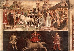 Francesco Del Cossa - Allegory of March: Triumph of Minerva