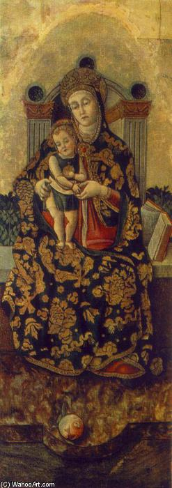 Madonna with the Child, Tempera by Vittore Crivelli (1440-1501, Italy)