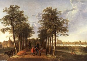 Aelbert Jacobsz Cuyp - The Avenue at Meerdervoort