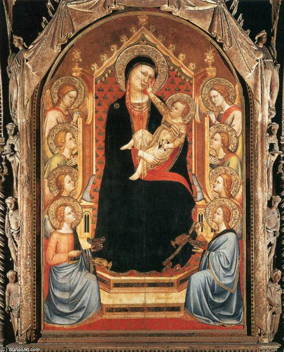 Orsanmichele Madonna and Child with Angels, Tempera by Bernardo Daddi (1290-1348, Italy)