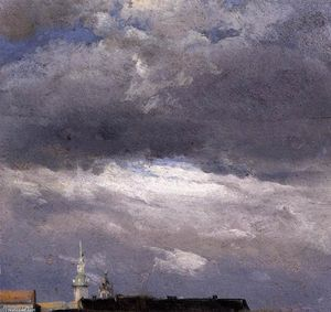 Johan Christian Clausen Dahl - Cloud Study, Thunder Clouds over the Palace Tower at Dresden