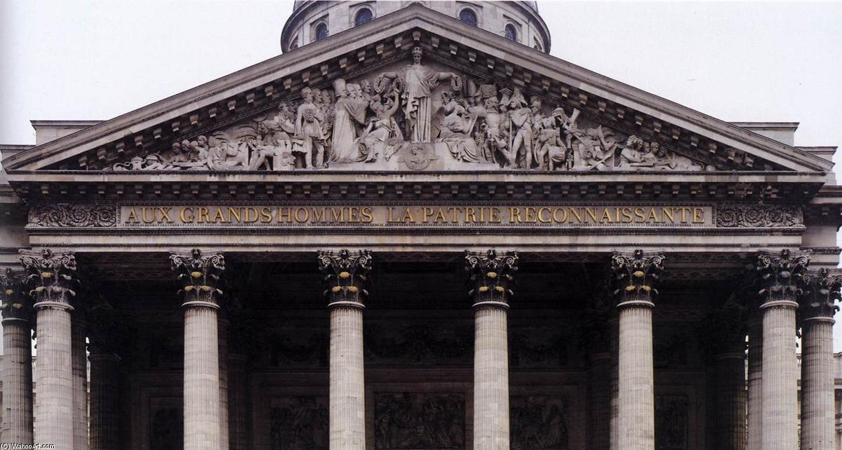 Order Oil Painting : Pediment relief of the Pantheon, 1830 by David D'angers (1788-1856, France) | WahooArt.com
