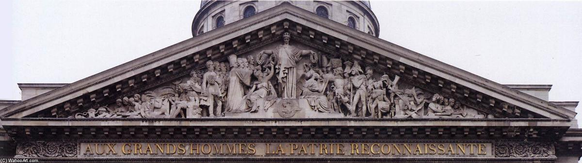 Order Famous Paintings Reproductions : Pediment relief of the Pantheon, 1830 by David D'angers (1788-1856, France) | WahooArt.com