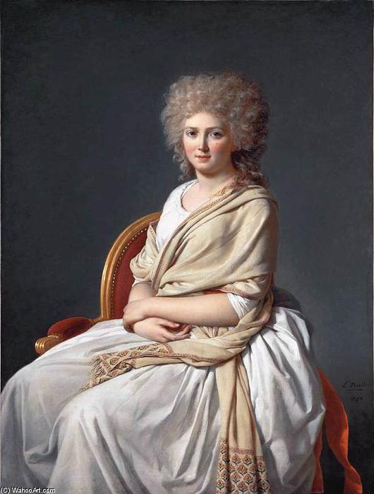 Anne-Marie-Louise Thélusson, Comtesse de Sorcy, Oil On Canvas by Jacques Louis David (1748-1800, France)