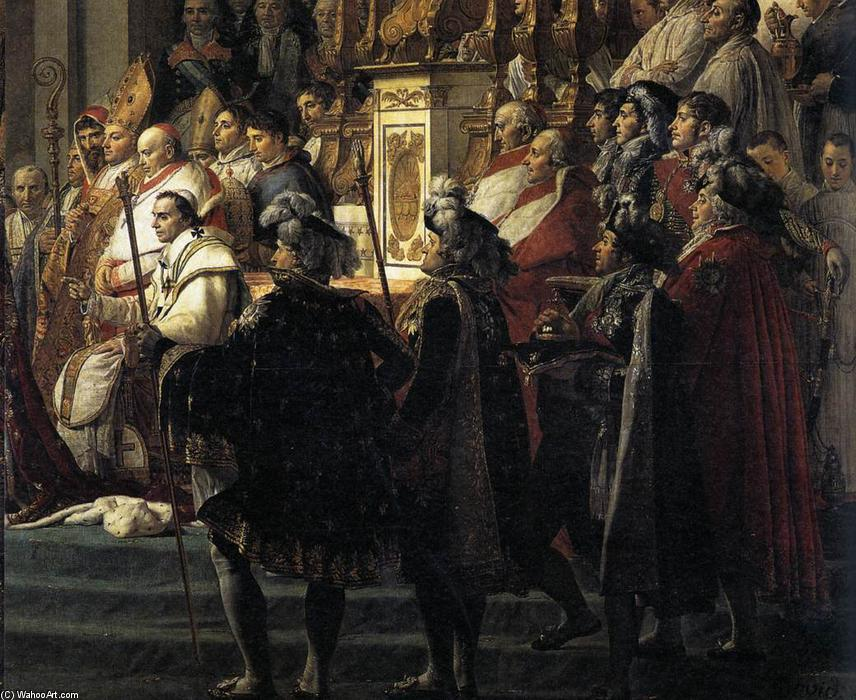 Consecration of the Emperor Napoleon I (detail), 1805 by Jacques Louis David (1748-1800, France) | Art Reproduction | WahooArt.com