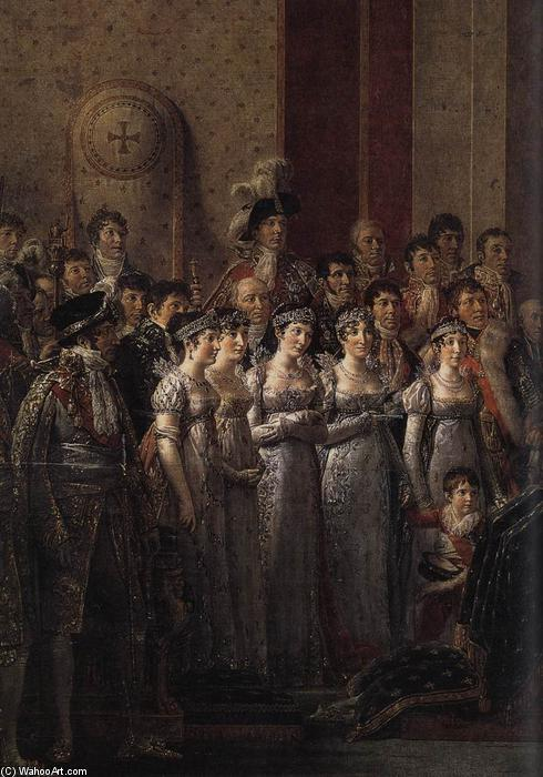 Consecration of the Emperor Napoleon I (detail), Oil On Canvas by Jacques Louis David (1748-1800, France)