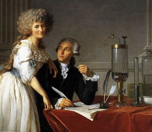 Jacques Louis David - Portrait of Antoine-Laurent and Marie-Anne Lavoisier (detail)
