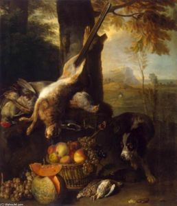 Alexandre François Desportes - Still-Life with Dead Hare and Fruit