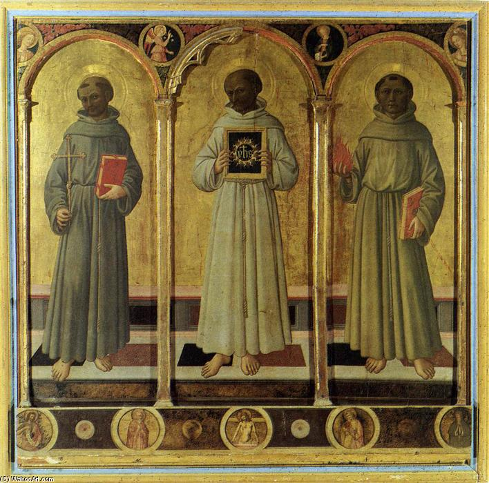 Three Franciscan Saints, Panel by Domenico Di Michelino (1417-1491, Italy)