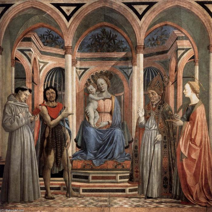 The Madonna and Child with Saints, 1445 by Domenico Veneziano (1410-1461, Italy) | WahooArt.com