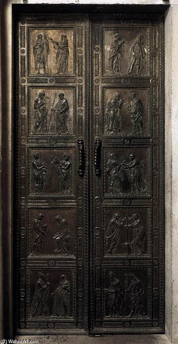 Door with the representation of Apostles, Bronze by Donatello (1386-1466, Italy)