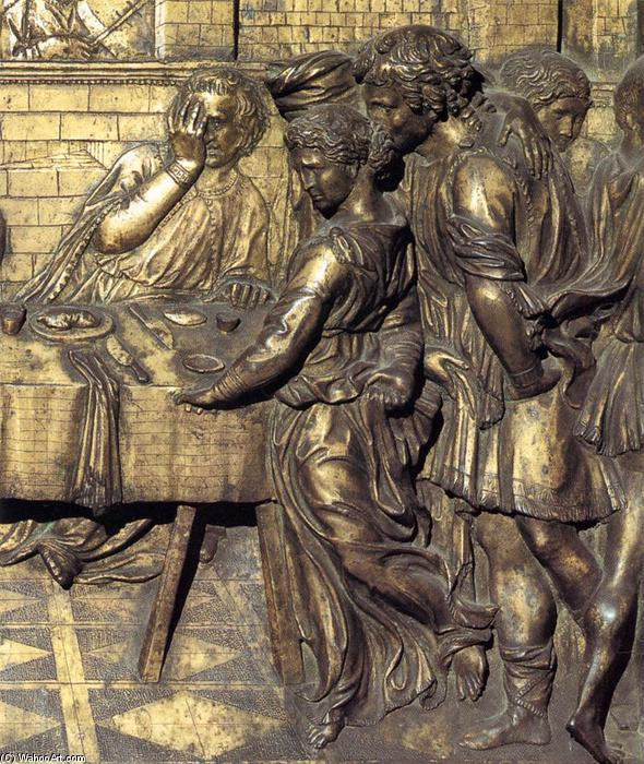 Herod's Banquet (detail), Bronze by Donatello (1386-1466, Italy)