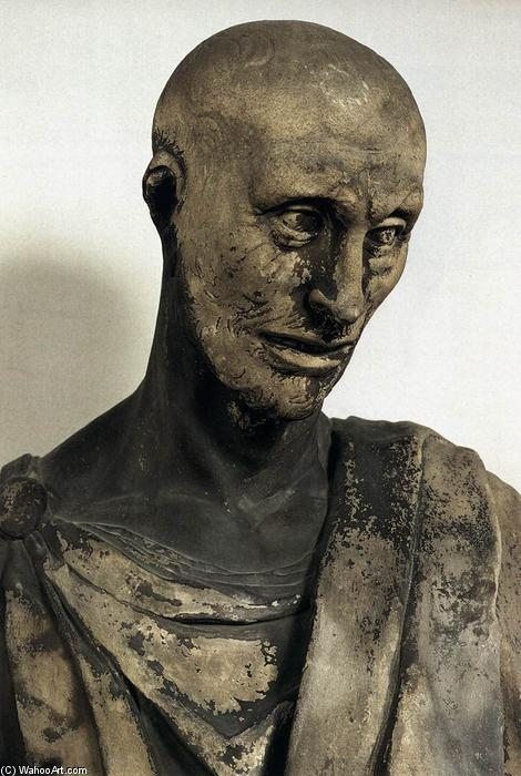 Prophet Habakkuk (detail), 1427 by Donatello (1386-1466, Italy) | Art Reproduction | WahooArt.com