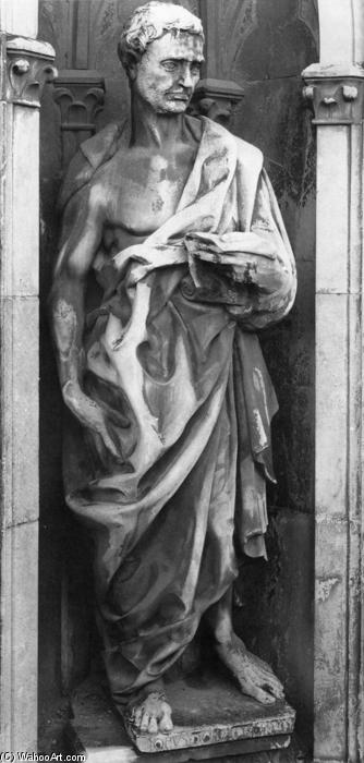 Prophet Jeremiah, 1423 by Donatello (1386-1466, Italy) | Painting Copy | WahooArt.com