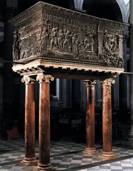 South pulpit, 1460 by Donatello (1386-1466, Italy) | Museum Quality Reproductions | WahooArt.com
