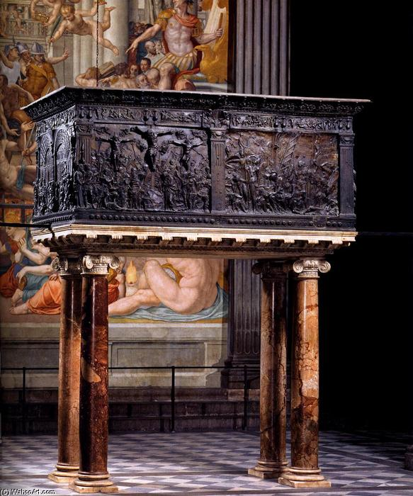 South pulpit, 1460 by Donatello (1386-1466, Italy) | WahooArt.com