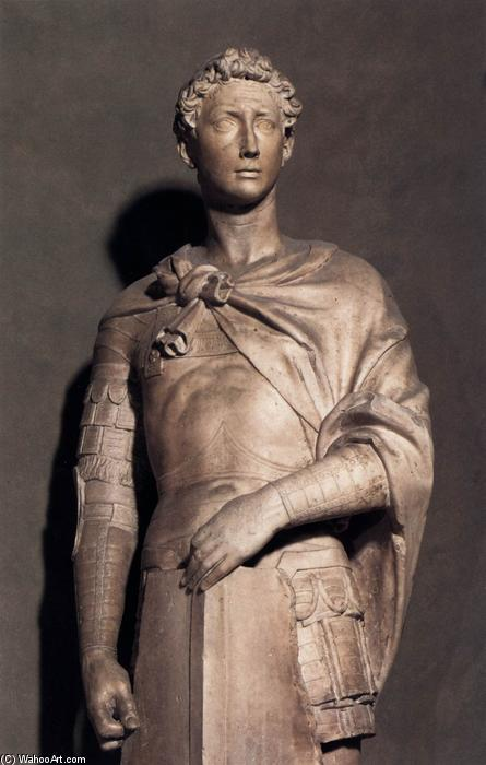 St George (detail), 1416 by Donatello (1386-1466, Italy) | WahooArt.com