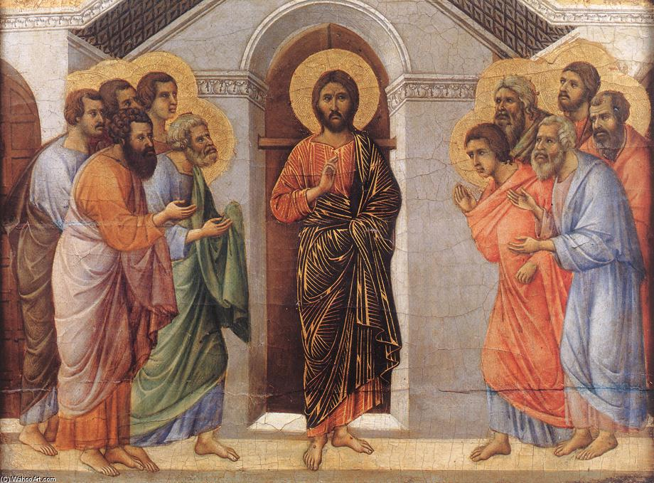 Appearence Behind Locked Doors, 1308 by Duccio Di Buoninsegna (1255-1319, Italy) | WahooArt.com