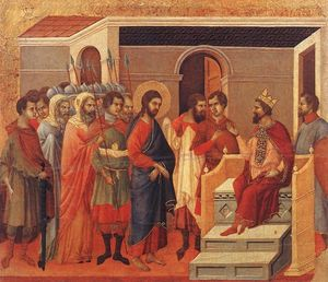 Duccio Di Buoninsegna - Christ Before Herod
