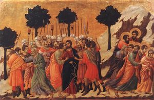 Duccio Di Buoninsegna - Christ Taken Prisoner